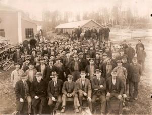 Anställda på Klafreströms bruk, mitten av 1930-talet