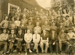Arbetare vid Norrhults gjuteri, slutet av 1930-talet