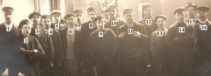 Arbetare vid Klafrestroms bruk okant ar nummer