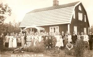 Utflykt med Klavre Framtid hos J. A. Göth i Katrinedal 1926