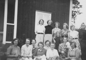 Galtabäcks syförening, mitten av 1950-talet hos Klara Johansson