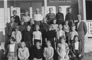 Granhults skola, klass 4, 1956