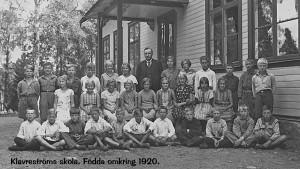 Klavreströms skola, tidigt 1930-tal