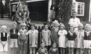 Klavrestroms skola kl 1 1943 nummer