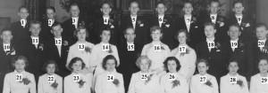 Konfirmander i Nottebacks kyrka 1952 nummer