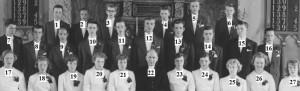 Konfirmander i Nottebacks kyrka 1956 nummer