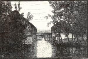 Kvarnen och logen i Klavreström
