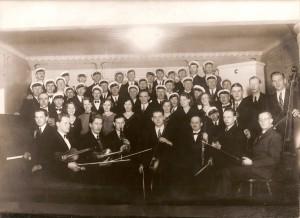 Klavre framtids musikcirkel och Nottebäcks manskör, konsert i Braås ordenshus 1933