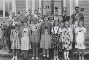 Norrhults skola, sjätte klass 1950/1951