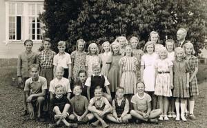 Norrhults skola 1948, klass 5, 6 och 7