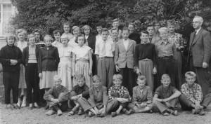Norrhults skola, 7e klass, 1954/1955
