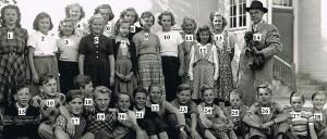 Norrhults skola 1950-51 kl 7 nummer