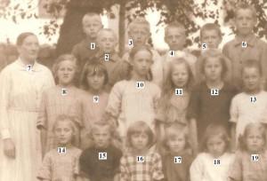 Nottebacks skola troligen 1920 1921 nummer a