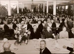 Personalfest vid Rosdala glasbruk 1950