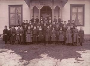 Klavreströms skola, troligen 1900/1901