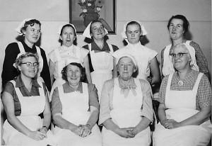 Skolkökskurs i Flybo 1955