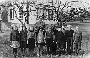 Flybos skola, klass 1 och 2, läsåret 1942/1942