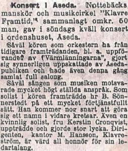 Konsert i Åseda