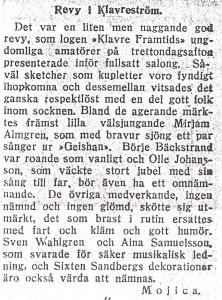 Revy i Klavreström