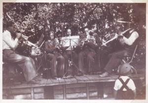 Musiker under fågeldammsfest