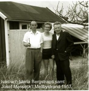 Ivan och Maria Bergstrand samt Josef Masseck