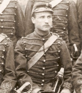 Ahlkvist, Johan August, Husar
