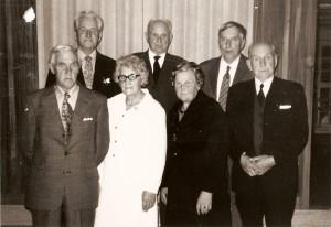 En grupp pensionärer