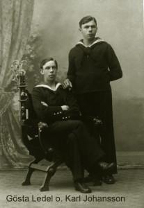 Gösta Ledel och Karl Johansson