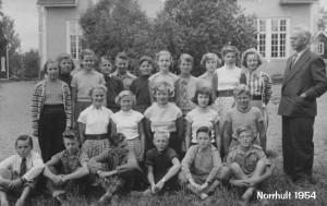 Norrhults skola, 7e klass 1954