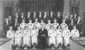 Konfirmanderna Nottebäck-Granhult 1952-53 med namn